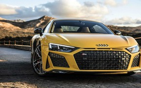 Picture Yellow, Road, Audi R8 V10