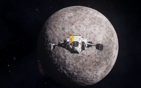 Picture space, planet, spaceship, Elite: Dangerous