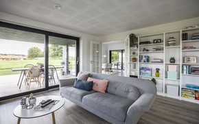 Picture interior, terrace, living room