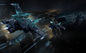 Picture nebula, asteroids, Space, space, the gates, spaceship, eve online, space ship, coooper