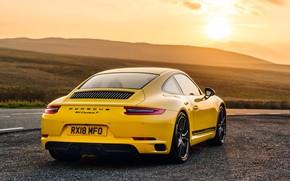 Wallpaper 911, Porsche, rear view, Coupe, 2018, Carrera T