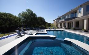 Picture Villa, pool, architecture, terrace, Dekton Danae, Lewisville, Льюисвилл