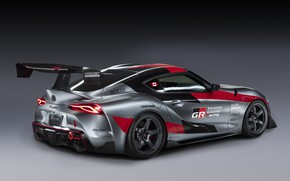Picture grey, background, coupe, Toyota, wing, 2020, GR Supra Track Concept