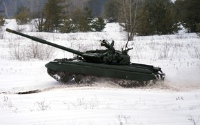 Picture Snow, Tank, Ukraine, OKB imeni Morozova, T-64BV, T-64BV sample 2017