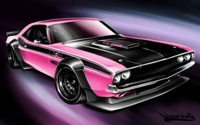 Picture Auto, Figure, Machine, Dodge, Challenger, Art, Dodge Challenger, 1970, Vehicles, Transport, Transport & Vehicles, Andreas …