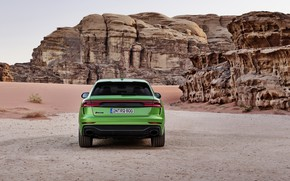 Picture Audi, desert, rear view, crossover, 2020, RS Q8