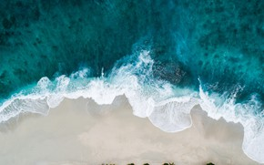 Picture sand, sea, wave, beach, water, blue, mood, the ocean, blue, stay