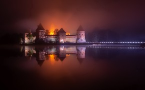 Picture Trakai, Lithuania, nights
