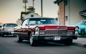Picture Cadillac, Red, Vehicle