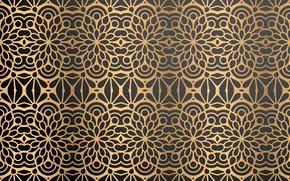 Picture background, gold, gold, ornament, background, Vintage, color, Luxury, Floral, ornamental