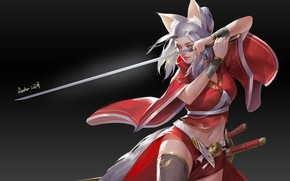 Picture Girl, Fox, Girl, Sword, Fox, Swords, Art, Art, Ears, Sword, Ears, Swords, Fox, Artist, Artist, …