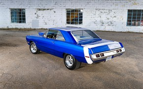 Picture Muscle, Dodge, Blue, Coupe, Vehicle, Dart
