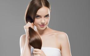 Picture look, girl, model, hair, hairstyle, Ryabusjkina Irina
