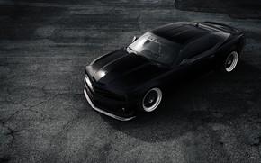 Picture Road, Chevrolet, Wheel, Machine, Camaro, Drives, Front Bumper, Black Color