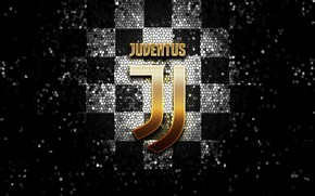 Picture wallpaper, sport, logo, football, Juventus, glitter, checkered