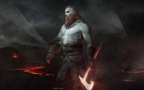 Picture Rocks, Fire, Warrior, Axe, Sparks, Fantasy, Mythology, Fire, Warrior, Fiction, Fiction, Illustration, Viking, Scandinavia, Rocks, …