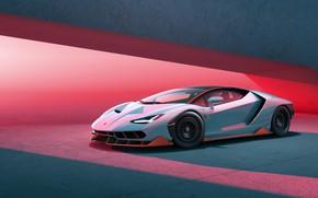 Picture light, pink, supercar, white, lamborghini, sportcar, pink light, centennial, блекс