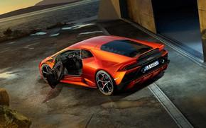 Picture Lamborghini, the door, supercar, Evo, Huracan, 2019, Lamborghini Huracan Evo