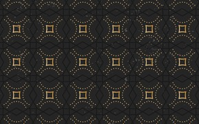 Picture gold, pattern, black, ornament, vintage, pattern
