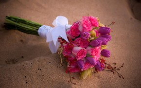 Picture photo, Flowers, Tulips, Bouquet, Roses, Orchids