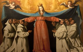 Picture 1655, Francisco de Zurbaran, The Omophorion Of The Mother Of God