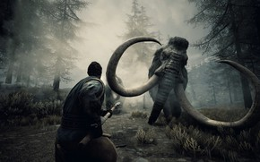 Picture fog, the game, people, game, mammoth, action, Conan Exiles, Conan The Barbarian