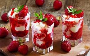 Picture Strawberry, Dessert, Food, Cream, Berry