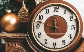 Picture decoration, watch, ball, ball, Christmas, New year
