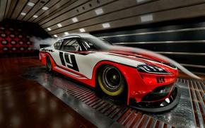 Picture racing car, Toyota, Supra, 2019, Xfinity