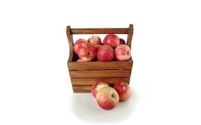 Wallpaper apples, harvest, box