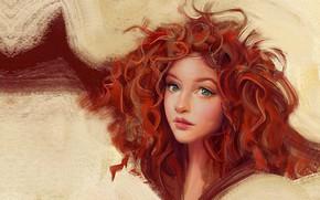 Picture girl, portrait, anime, art, fragment, Portrait, Mandy Jurgens