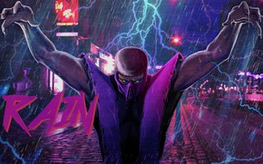 Picture Figure, Music, Rain, Background, Zipper, Art, Mortal Kombat, Rain, Synth, Retrowave, Synthwave, New Retro Wave, …