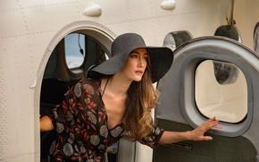 Picture pose, the plane, hat, hair, Maggie Q, Maggie Q, Fantasy island, Fantasy Island, Gwen Olsen
