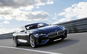 Picture road, movement, coupe, BMW, 2017, 8-Series Concept
