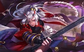 Picture girl, hair, MAG, Gladiator, Kusanagi, whip, Heroes of Newerth