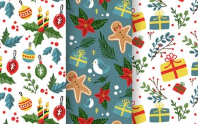 Picture background, toys, texture, gifts, christmas, pattern, collection