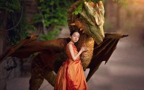 Picture mood, dragon, dress, friendship, girl, friends