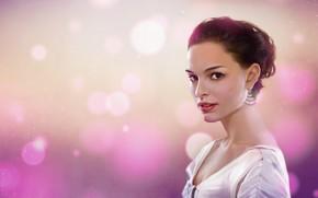 Picture Girl, Figure, Look, Style, Face, Background, Portrait, Actress, Natalie Portman, Natalie Portman, Art