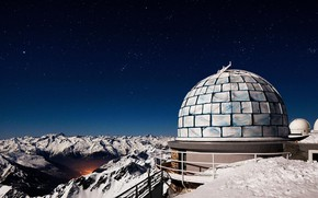 Picture France, The Pyrenees, mount MIDI de Bigorre, the Observatory of the Pic du MIDI