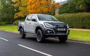 Picture asphalt, markup, pickup, Isuzu, D-Max, 2019, UK version, XTR
