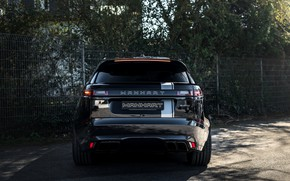 Picture black, Land Rover, Range Rover, rear view, SUV, Manhart, 2020, Velar, SV 600