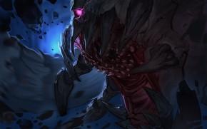 Picture eyes, monster, teeth, Goblin Slayer