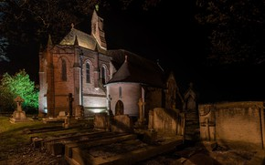 Picture night, graves, St Mary of the Angels