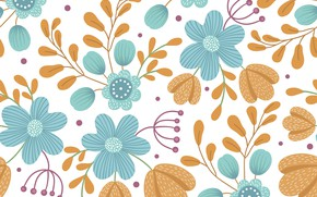 Picture flowers, background, pattern, vector, seamless, lexi_claus