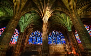 Picture Gothic, Cathedral, stained glass, column