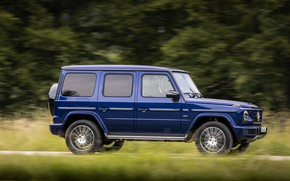 Picture blue, Mercedes-Benz, speed, SUV, 4x4, G-Class, 2019
