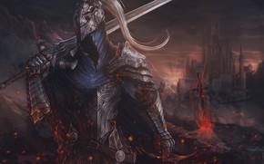 Picture Armor, Sword, Fantasy, Art, Art, Knight, Fiction, Dark Souls, Knight, Sword, Game Art, by Sergey …