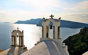 Picture Church, Greece, bell, Santorini