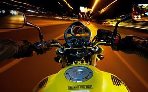 Picture Speed, Night, Bike, Road