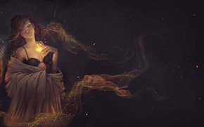 Picture girl, magic, fantasy